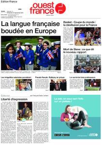 Ouest-France Édition France – 14 septembre 2019