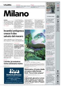 la Repubblica Milano - 12 Ottobre 2018