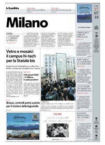 la Repubblica Milano - 27 Luglio 2018
