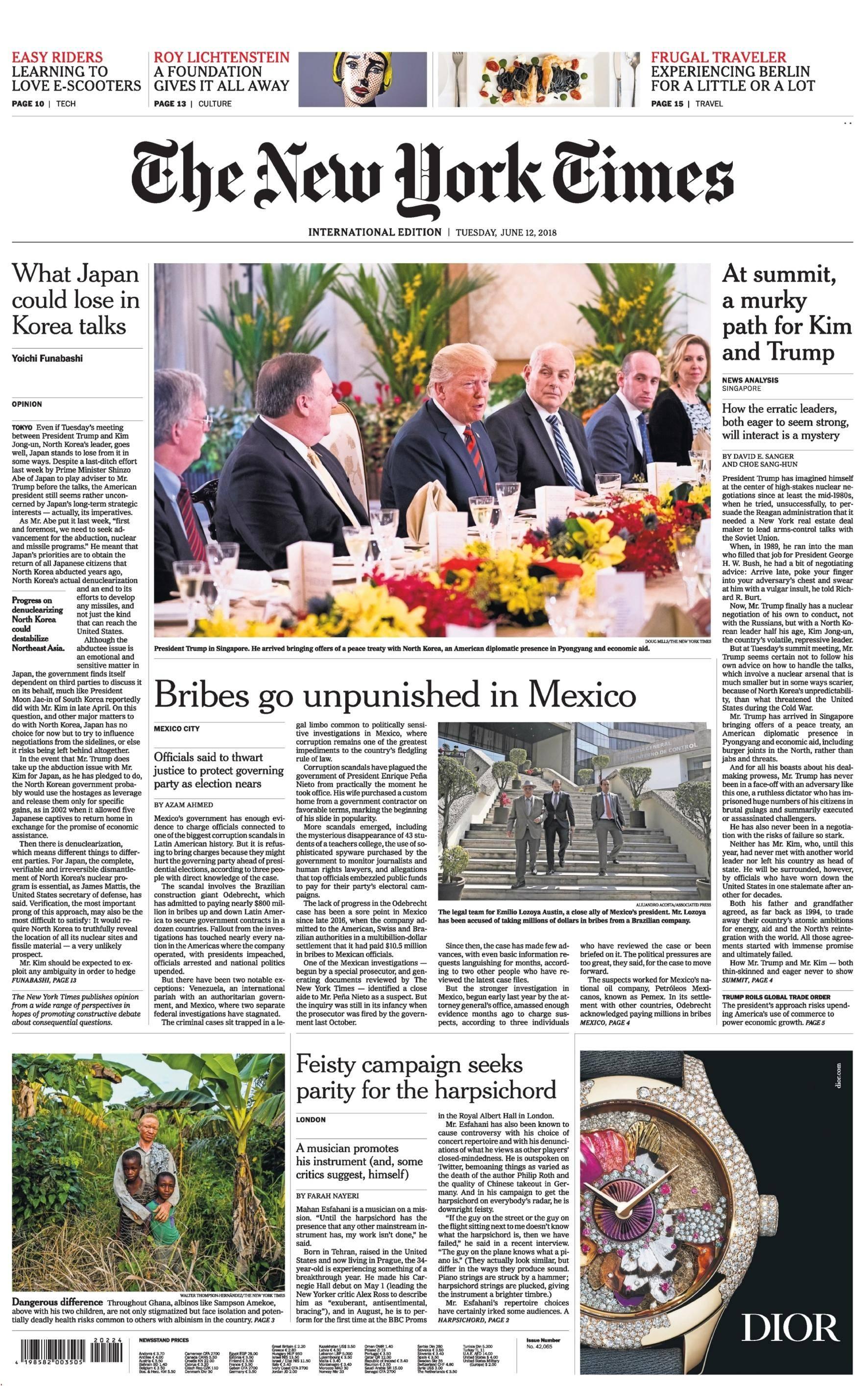 International New York Times - 12 June 2018