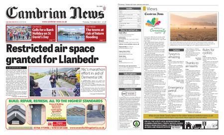 Cambrian News Meirionnydd – 08 October 2021