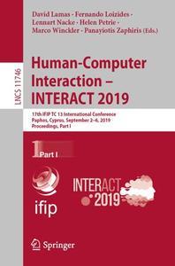 Human-Computer Interaction – INTERACT 2019