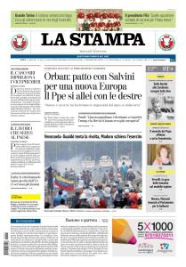 La Stampa Torino Provincia e Canavese - 1 Maggio 2019