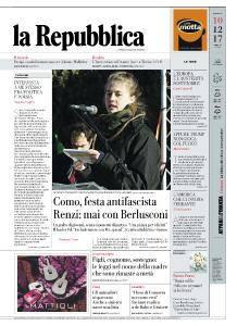 la Repubblica - 10 Dicembre 2017