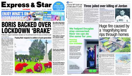 Express and Star Staffordshire Edition – August 01, 2020
