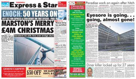 Express and Star Sandwell Edition – January 24, 2018