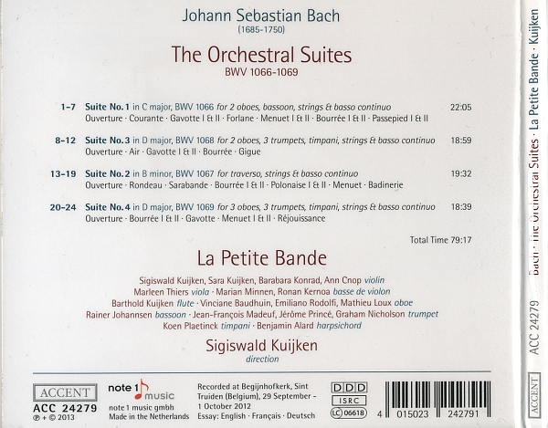 Johann Sebastian Bach - The Orchestral Suites (2013) {Accent}