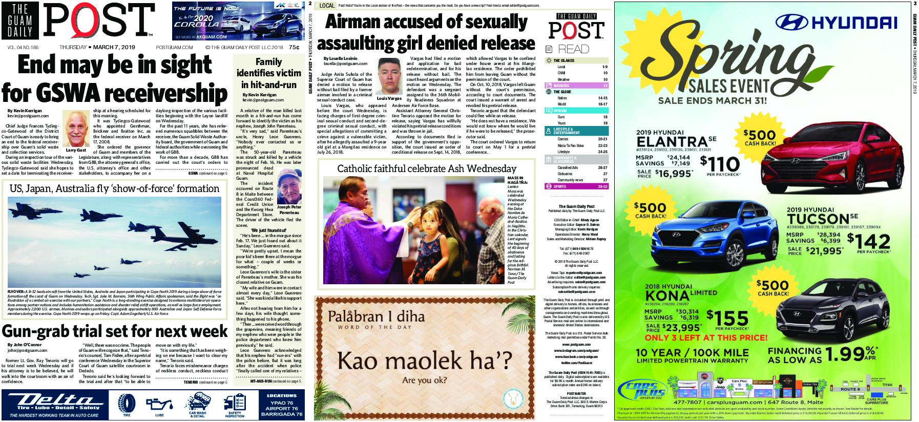 The Guam Daily Post – March 07, 2019