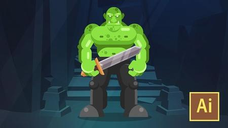 Learn Illustrator CC: Create a Simple Flat Vector Orc