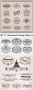 Vectors - Ornamental Vintage Labels 19