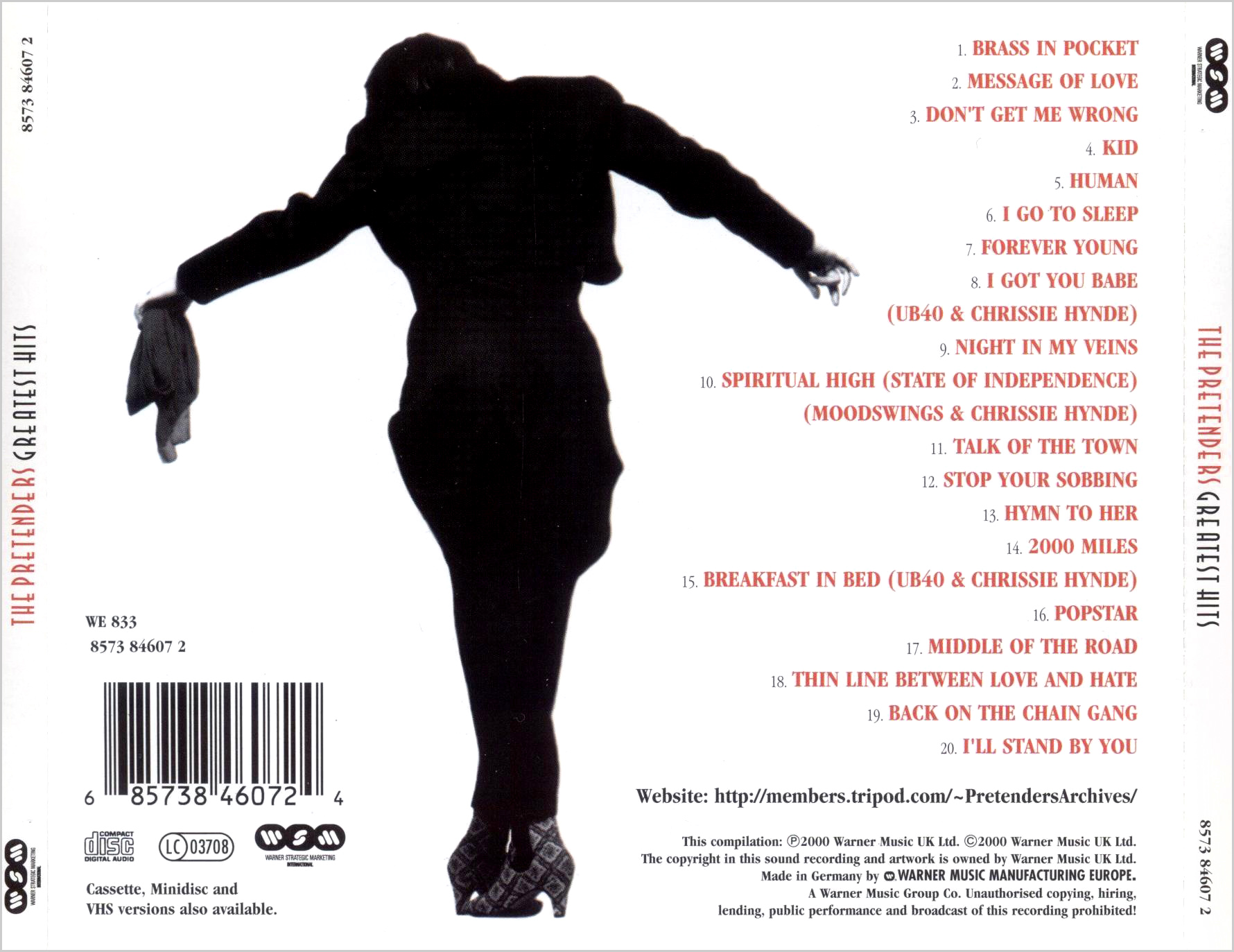 The Pretenders Greatest Hits 2000 Repost Avaxhome