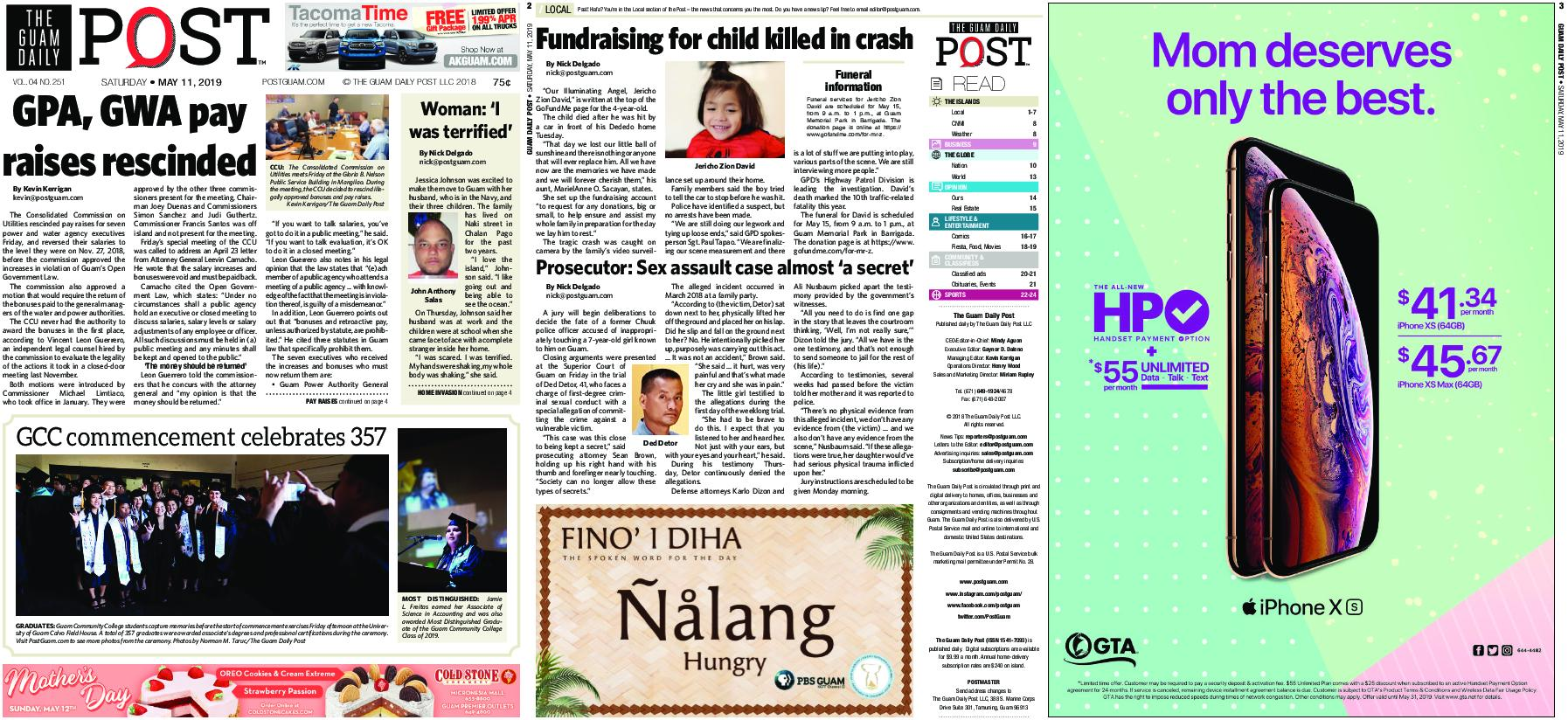 The Guam Daily Post – May 11, 2019
