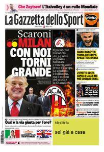 La Gazzetta dello Sport Roma – 14 settembre 2018