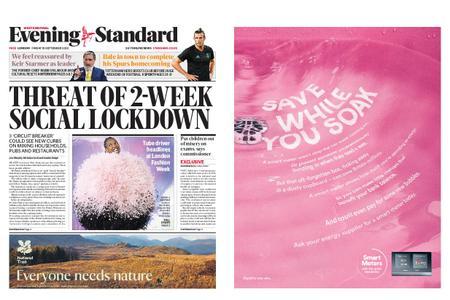 London Evening Standard – September 18, 2020