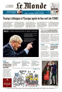 Le Monde du Vendredi 4 Octobre 2019