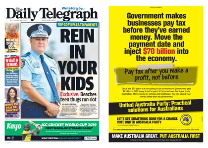 The Daily Telegraph (Sydney) – May 16, 2019