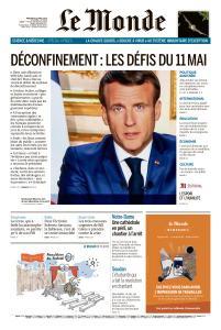 Le Monde du Mercredi 15 Avril 2020
