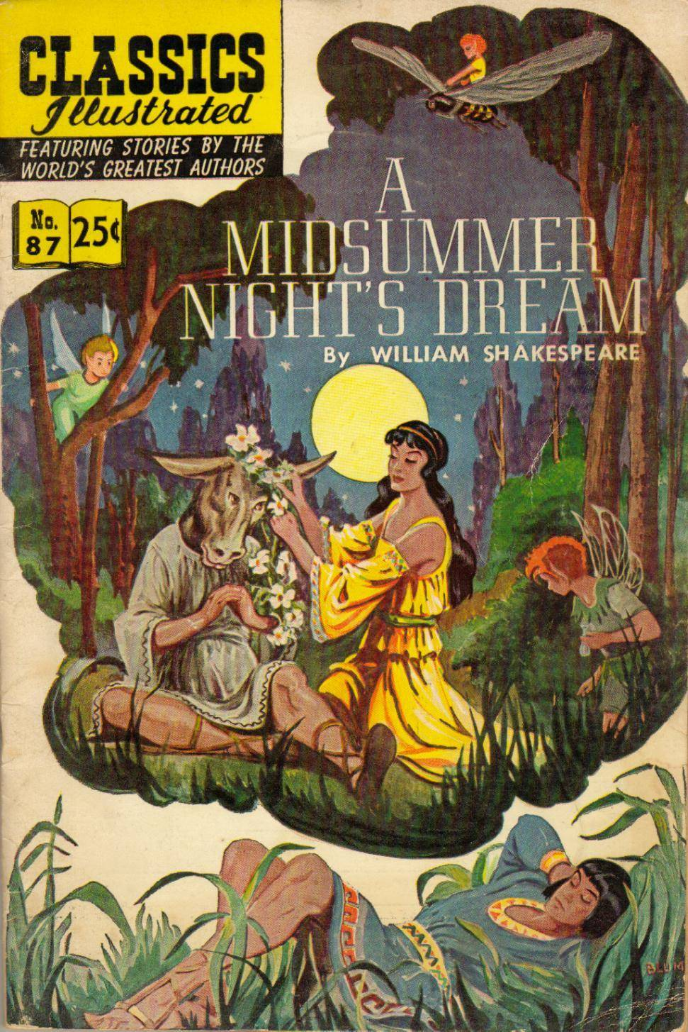 For Spectre99 - Classics Illustrated 087 A Midsummer Nights Dream William Shakespeare cbr