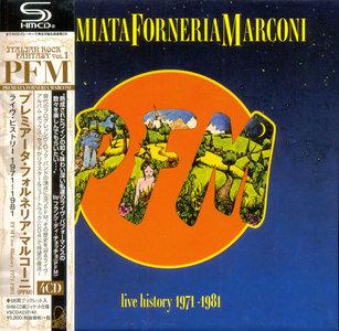 Premiata Forneria Marconi - Live History 1971-1981 (1996) [2014, 4 Mini LP SHM-CD Box Set]