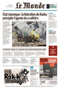 Le Monde du Jeudi 19 Octobre 2017
