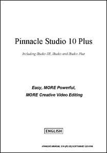 Pinnacle Studio 10 Plus – User Guide - English