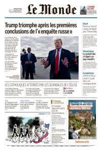 Le Monde du Mardi 26 Mars 2019