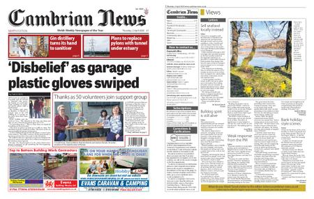 Cambrian News Arfon & Dwyfor – 03 April 2020