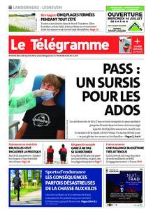 Le Télégramme Landerneau - Lesneven – 14 juillet 2021