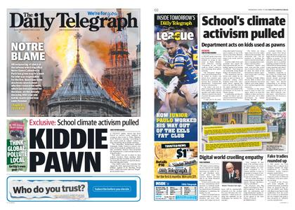 The Daily Telegraph (Sydney) – April 17, 2019