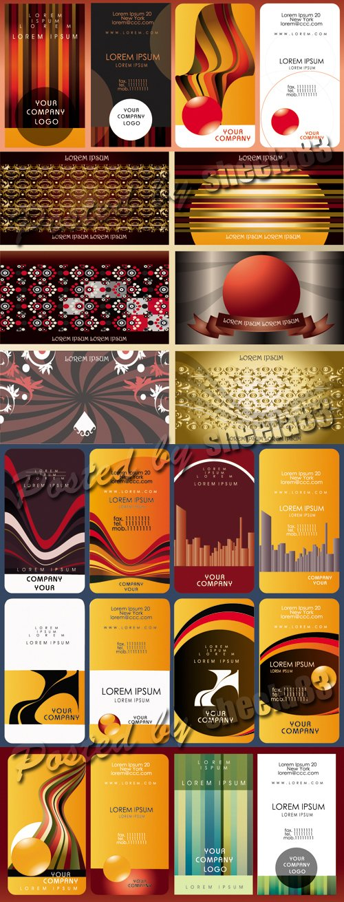 Color Cards Vector 3