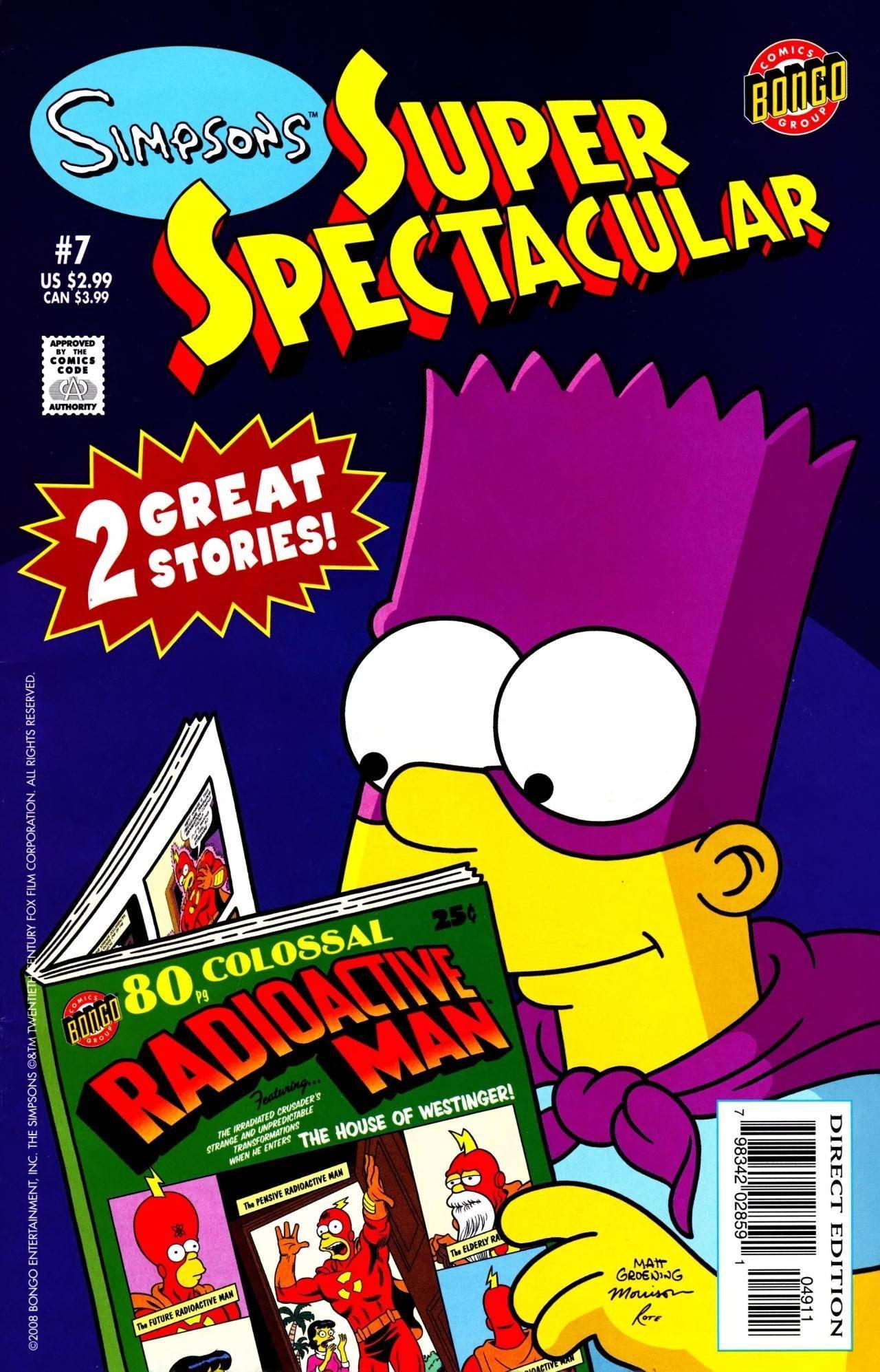 Simpsons Super Spectacular 007 2008 noads