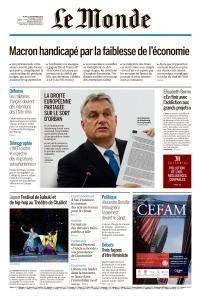 Le Monde du Jeudi 13 Septembre 2018