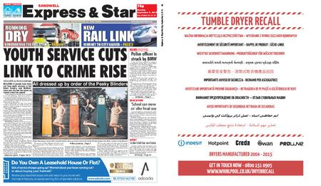 Express and Star Sandwell Edition – September 09, 2019