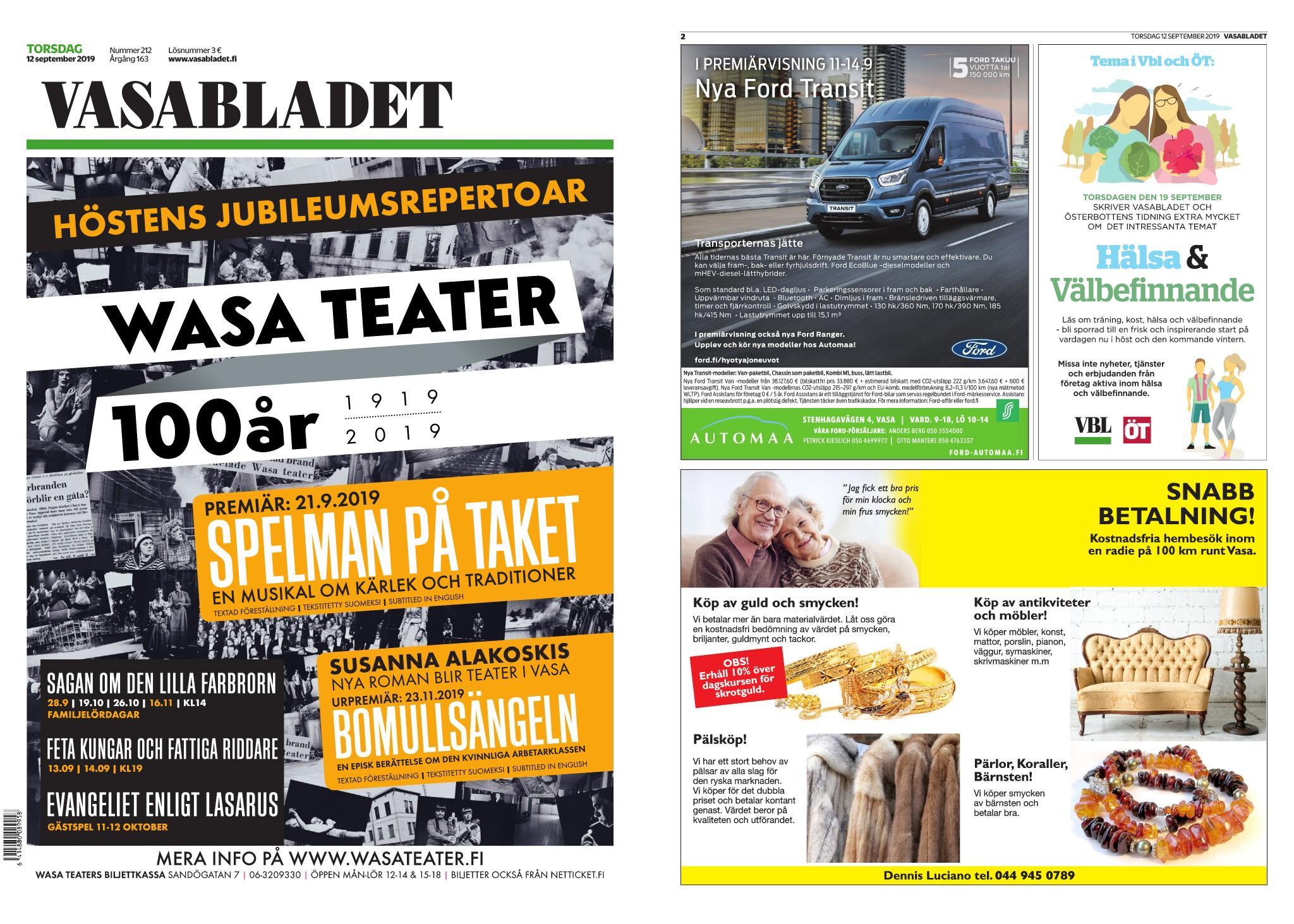 Vasabladet – 12.09.2019