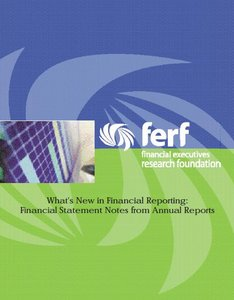 What's New in Financial Reporting: Financial Statement Notes from Annual Reports (Repost)