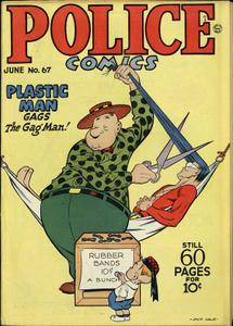 Police Comics 067 [Quality] [Plastic Man (Jack Cole) The Spirit (Lou Fine)]