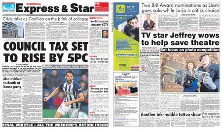 Express and Star Sandwell Edition – January 15, 2018