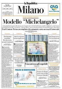 la Repubblica Milano - 23 Marzo 2020