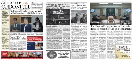 Gibraltar Chronicle – 26 September 2020