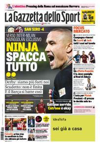 La Gazzetta dello Sport Roma – 17 ottobre 2018