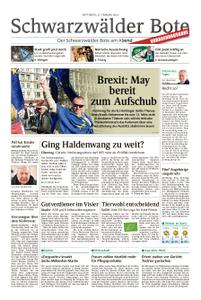 Schwarzwälder Bote Blumberg - 27. Februar 2019