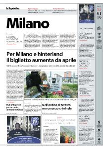la Repubblica Milano - 15 Gennaio 2019