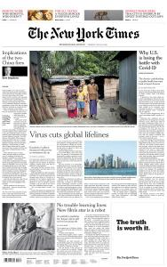 International New York Times - 28 July 2020