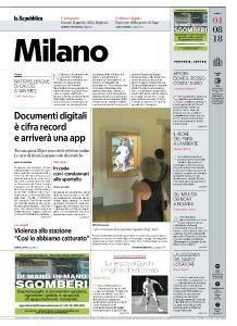 la Repubblica Milano - 4 Agosto 2018