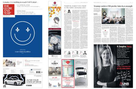 The Globe and Mail – September 29, 2018