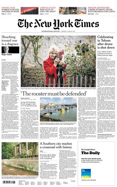 International New York Times -  24 June 2019
