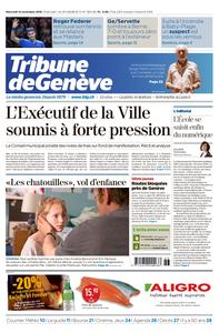 La Tribune de Genève - 14 novembre 2018