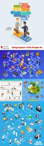 Vectors - Infographics with People 87