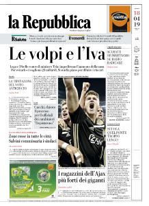 la Repubblica - 18 Aprile 2019