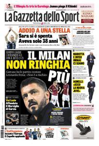 La Gazzetta dello Sport Roma – 26 ottobre 2018